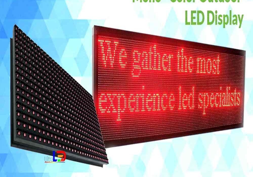 RGB / single-colored scrolling LED Board for Government Offices